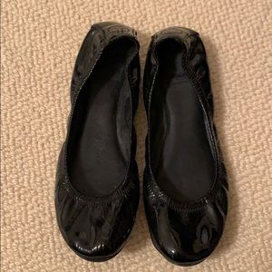 Barely worn, patent leather, Tory Burch flats, 9